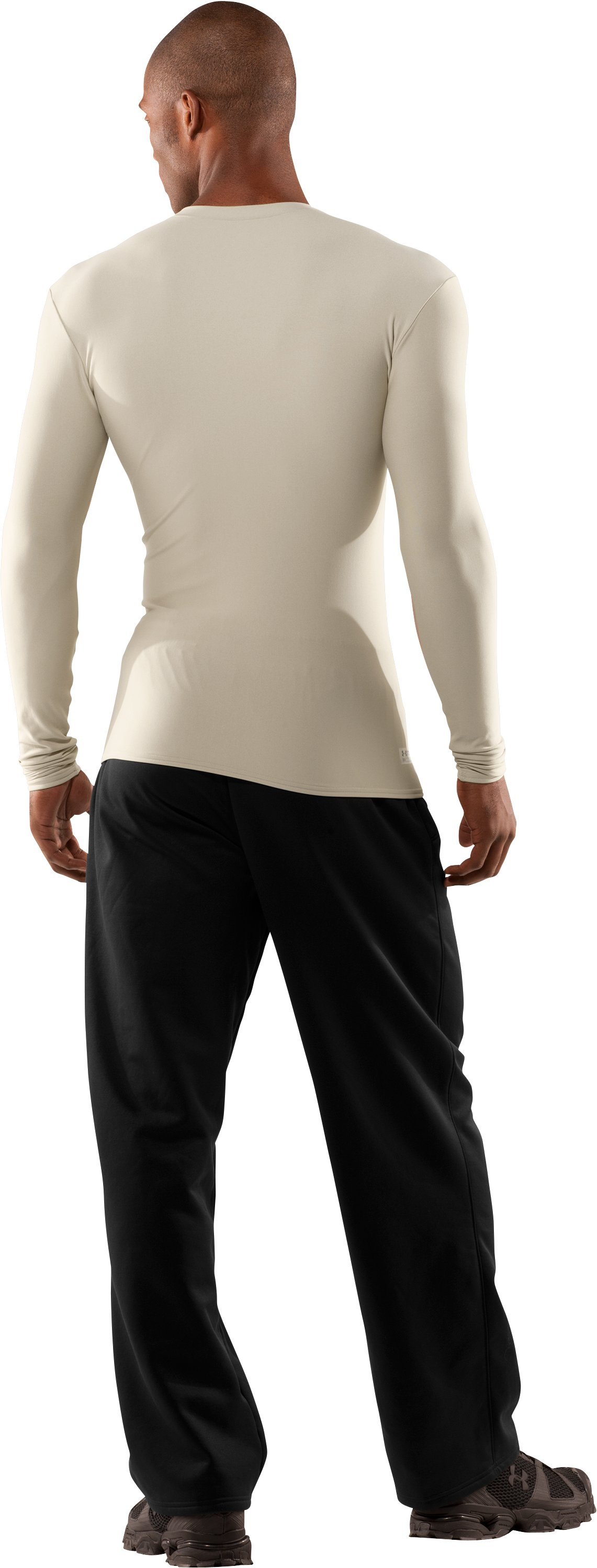 Men's UA ColdGear® Tactical Long Sleeve Crew, Desert Sand, Back