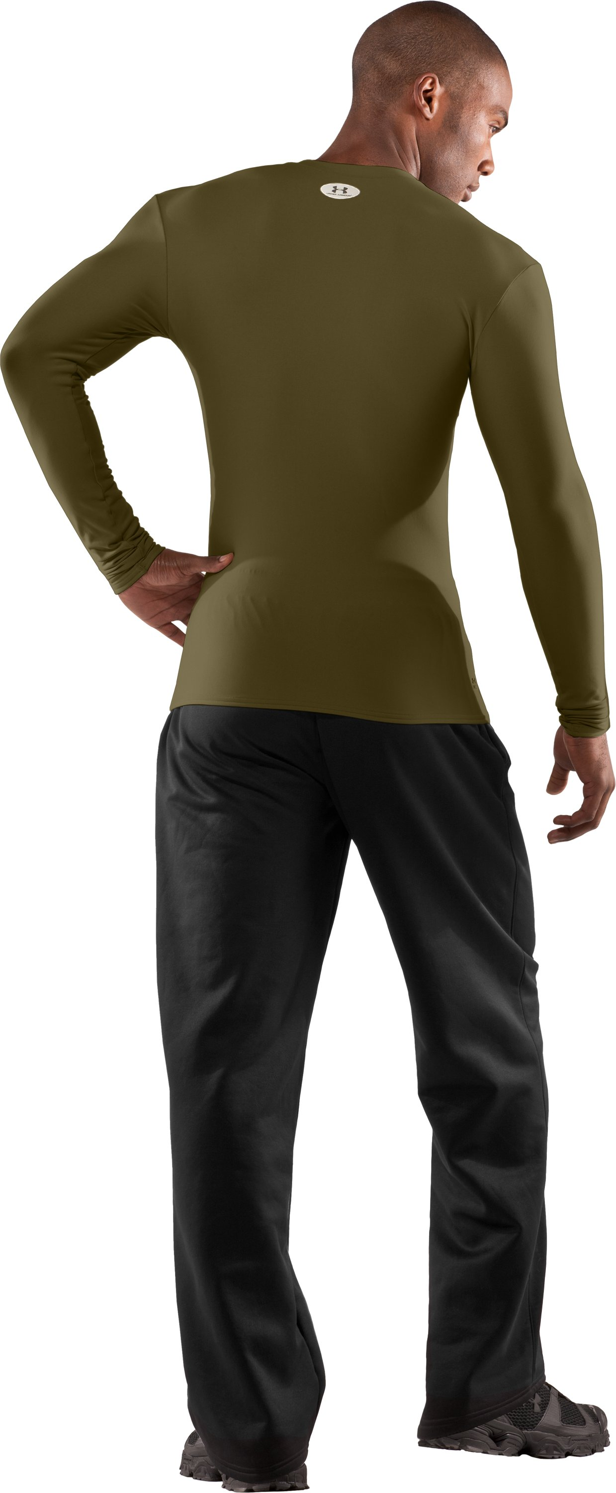 Men's UA ColdGear® Tactical Long Sleeve Crew, Marine OD Green, Back