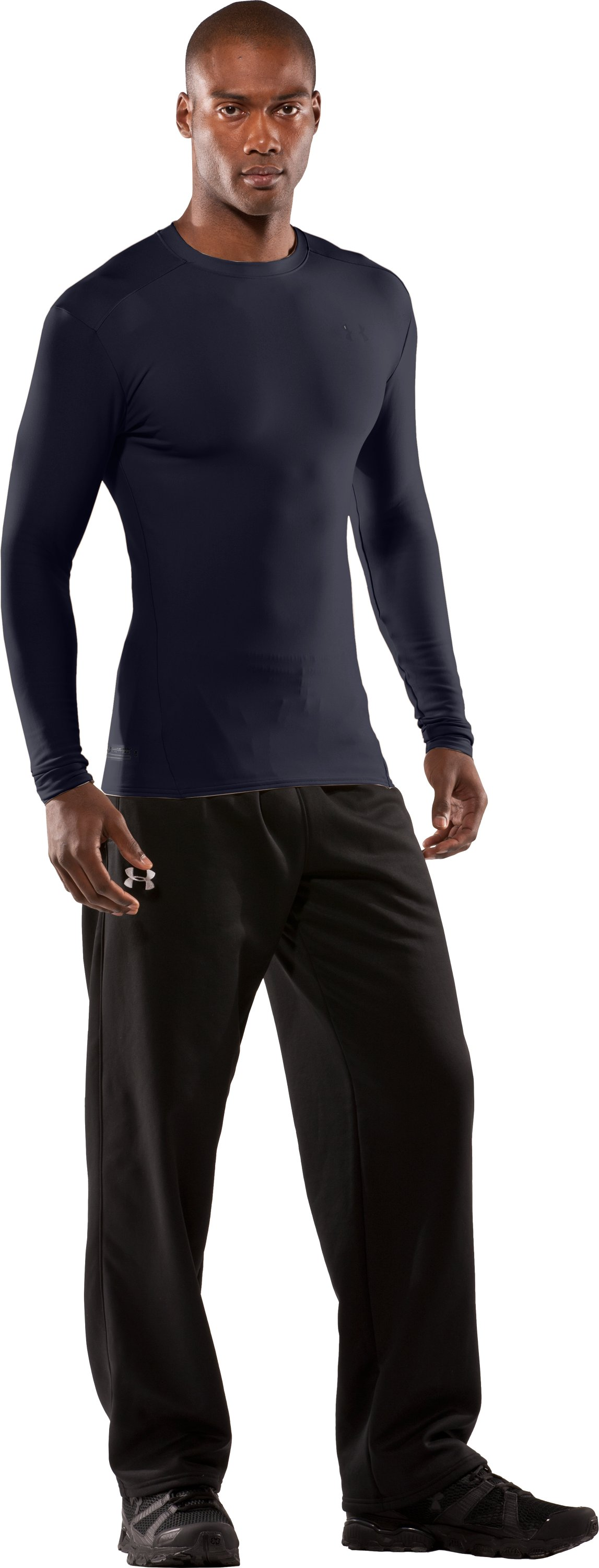 Men's UA ColdGear® Tactical Long Sleeve Crew, Dark Navy Blue , zoomed image