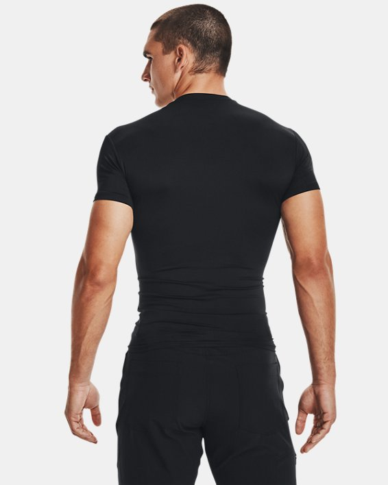 Men's Tactical HeatGear® Compression Short Sleeve T-Shirt, Black, pdpMainDesktop image number 3
