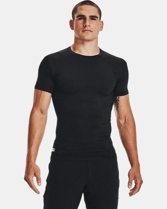 Men's Tactical HeatGear® Compression Short Sleeve T-Shirt, Black, pdpMainDesktop image number 2