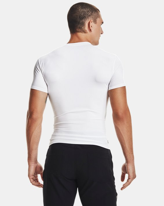Men's Tactical HeatGear® Compression Short Sleeve T-Shirt, White, pdpMainDesktop image number 4