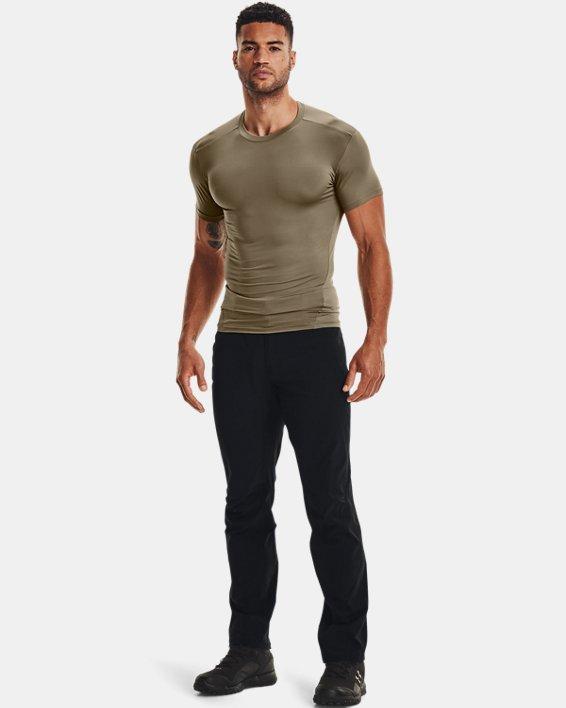 T-shirt a manica corta Tactical HeatGear® Compression da uomo, Brown, pdpMainDesktop image number 1