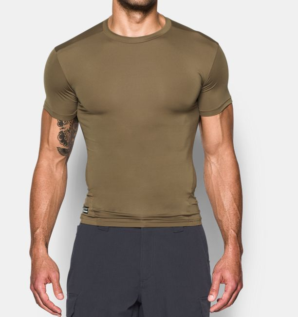Men s tactical heatgear compression short sleeve t shirt for Under armor tactical t shirt
