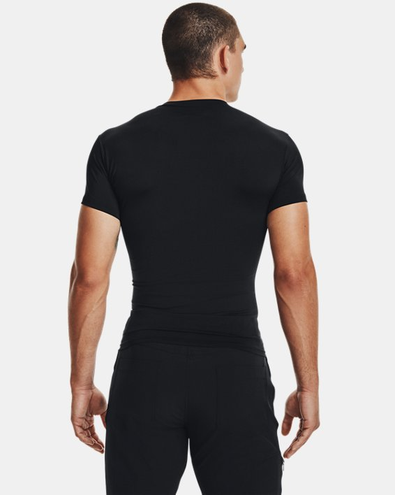 Men's Tactical HeatGear® Compression V-Neck T-Shirt, Black, pdpMainDesktop image number 4