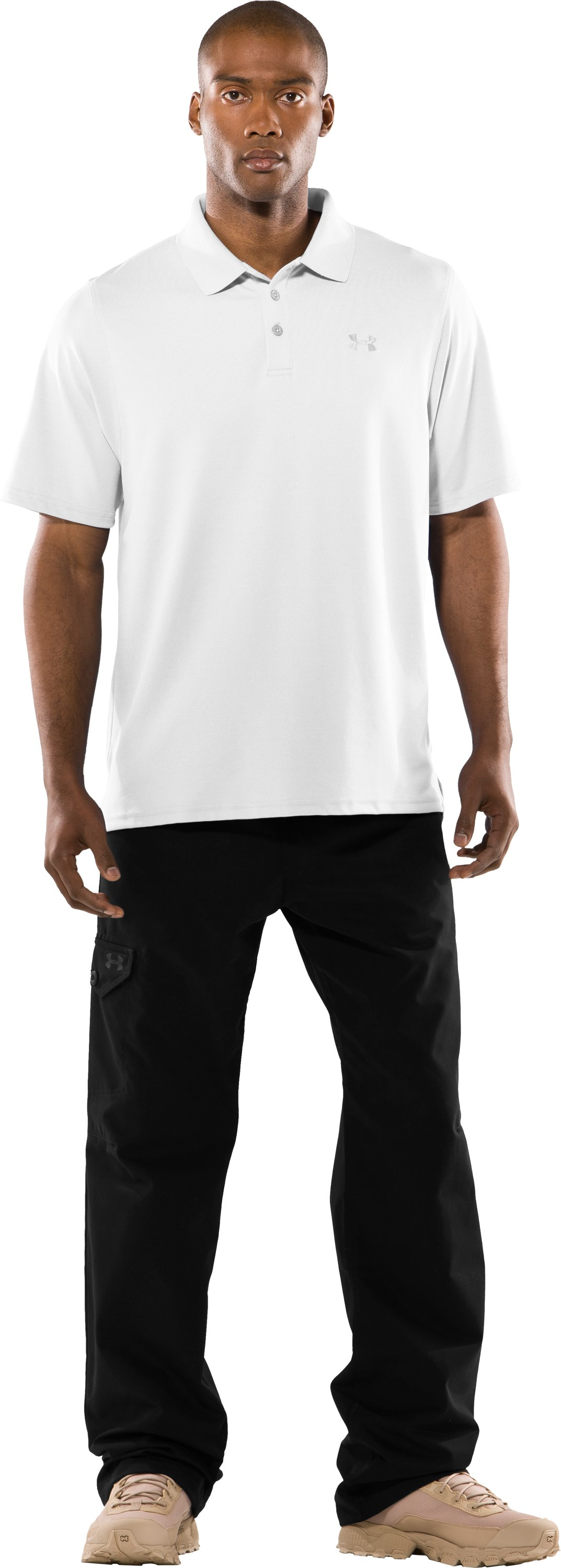 Men's UA Tactical Performance Polo, White, zoomed image