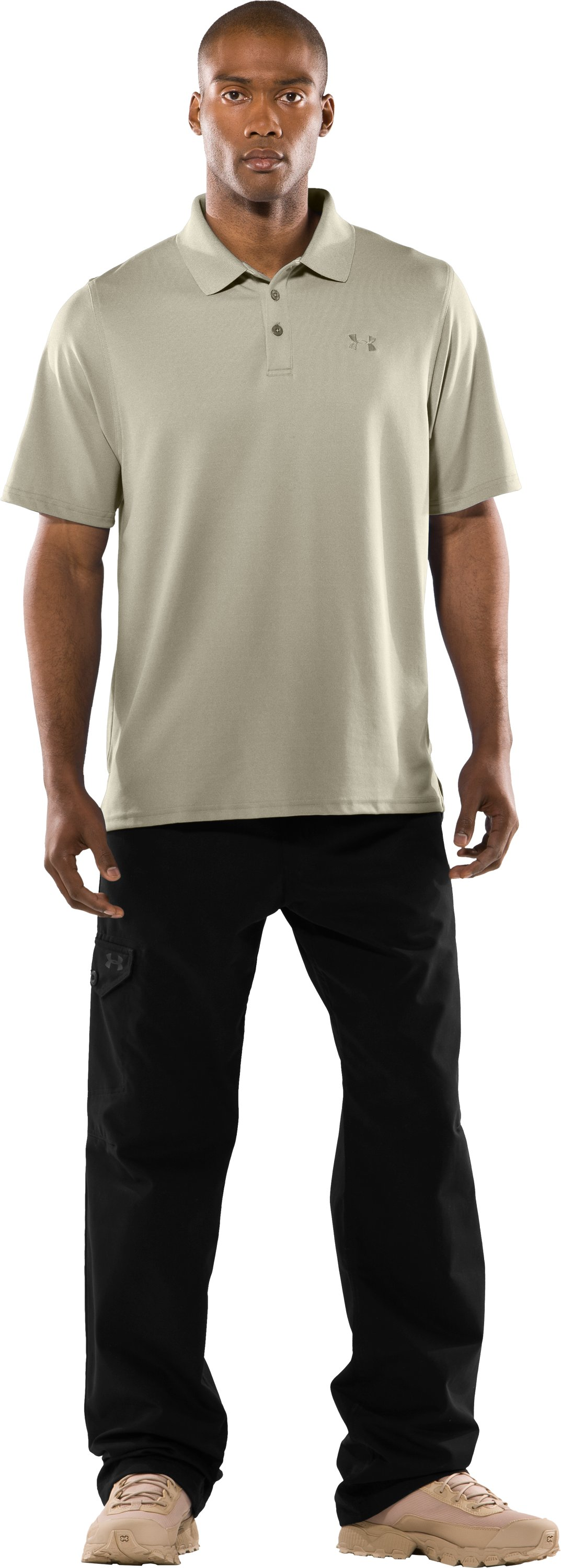 Men's UA Tactical Performance Polo, Desert Sand, zoomed image
