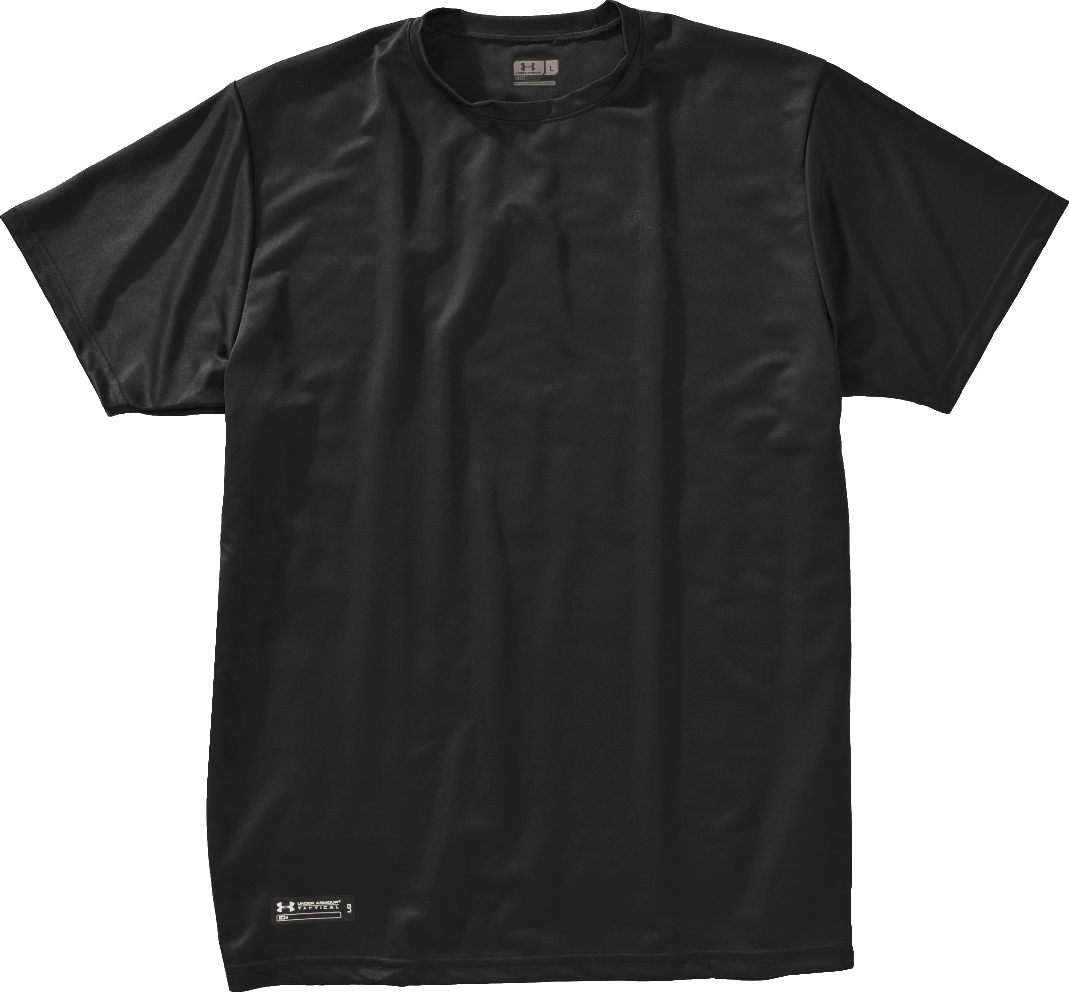 Men's UA HeatGear® Tactical Short Sleeve T-Shirt, Black , Laydown