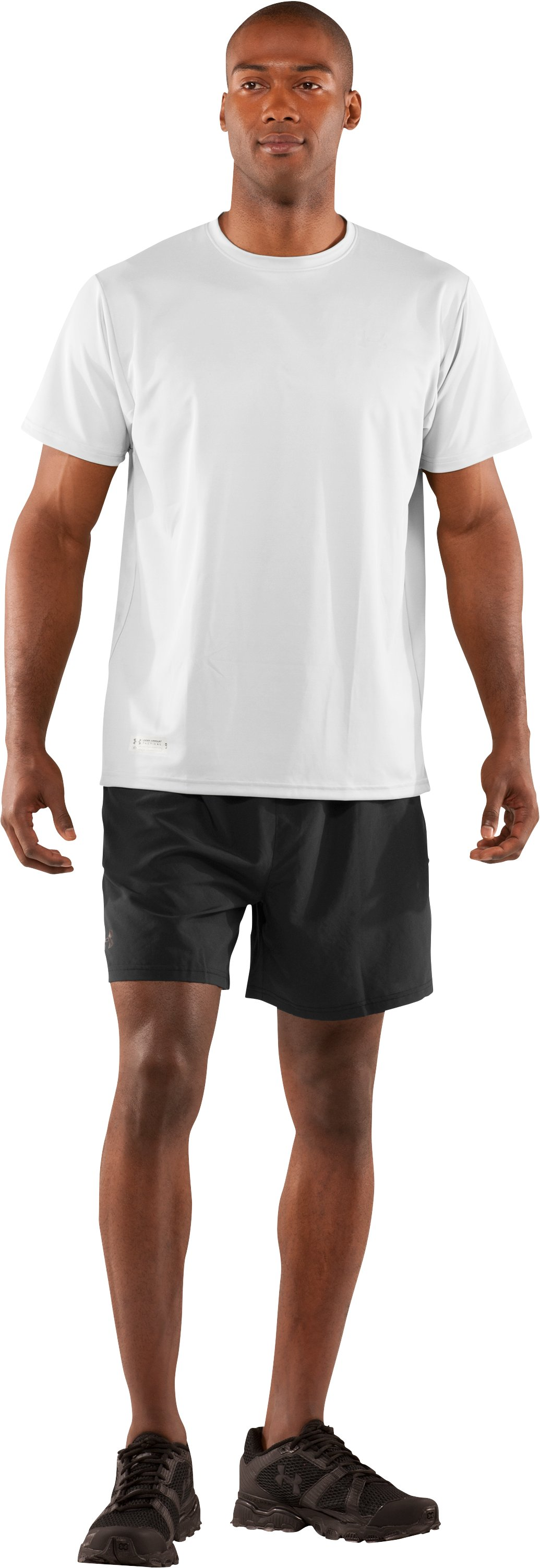 Men's UA HeatGear® Tactical Short Sleeve T-Shirt, White, Front