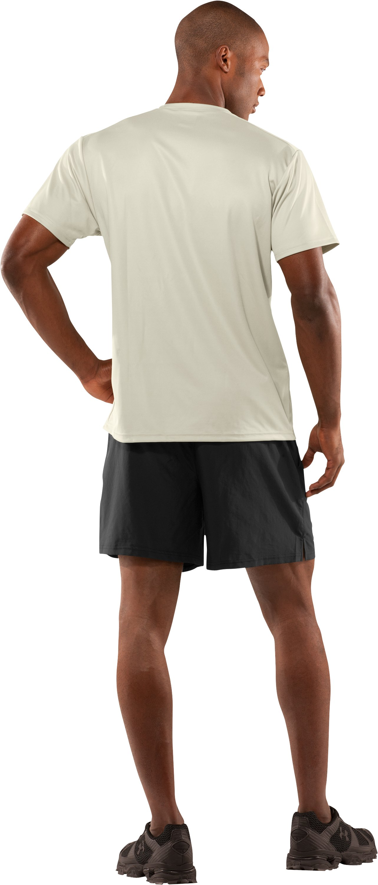 Men's UA HeatGear® Tactical Short Sleeve T-Shirt, Desert Sand, Back