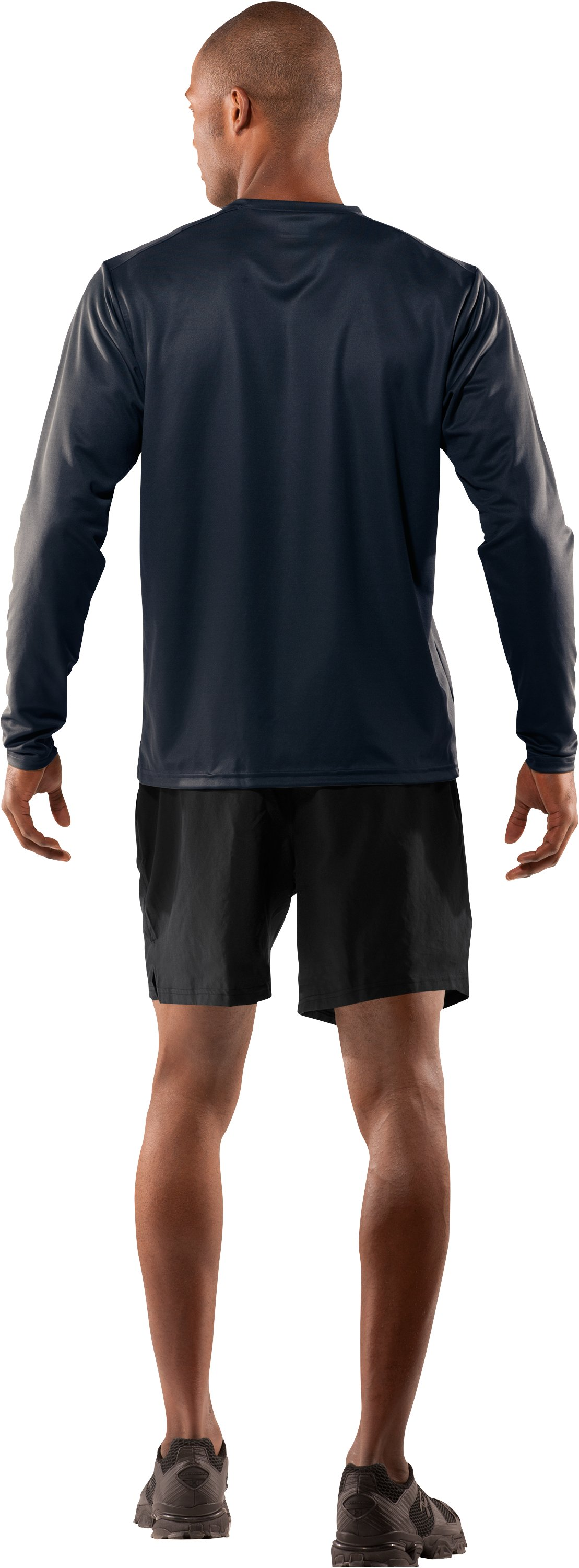 Men's UA HeatGear® Tactical Long Sleeve T-Shirt, Dark Navy Blue , Back