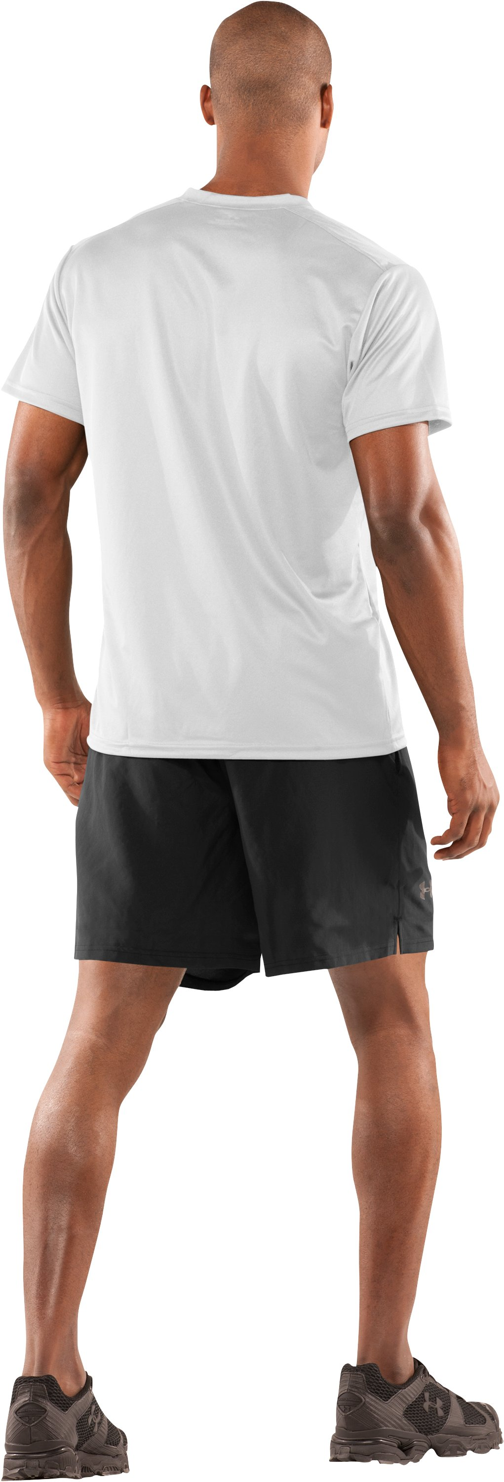 Men's UA HeatGear® Tactical V-Neck T-Shirt, White, Back