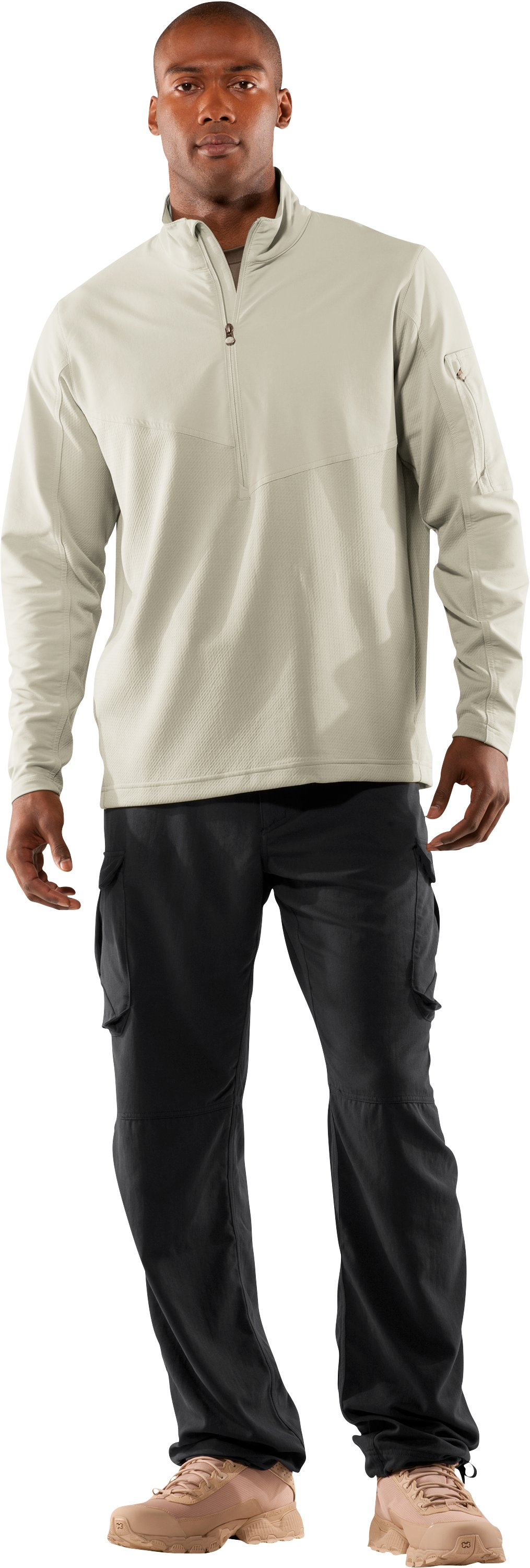 Men's UA Tactical ¼ Zip Jacket, Desert Sand, zoomed image