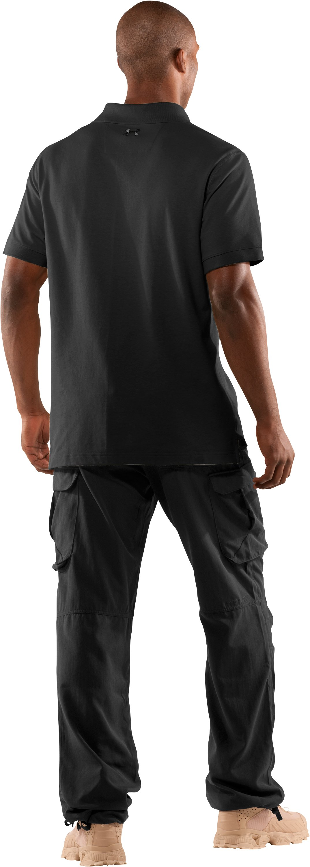 Men's UA Tactical Polo, Black , Back