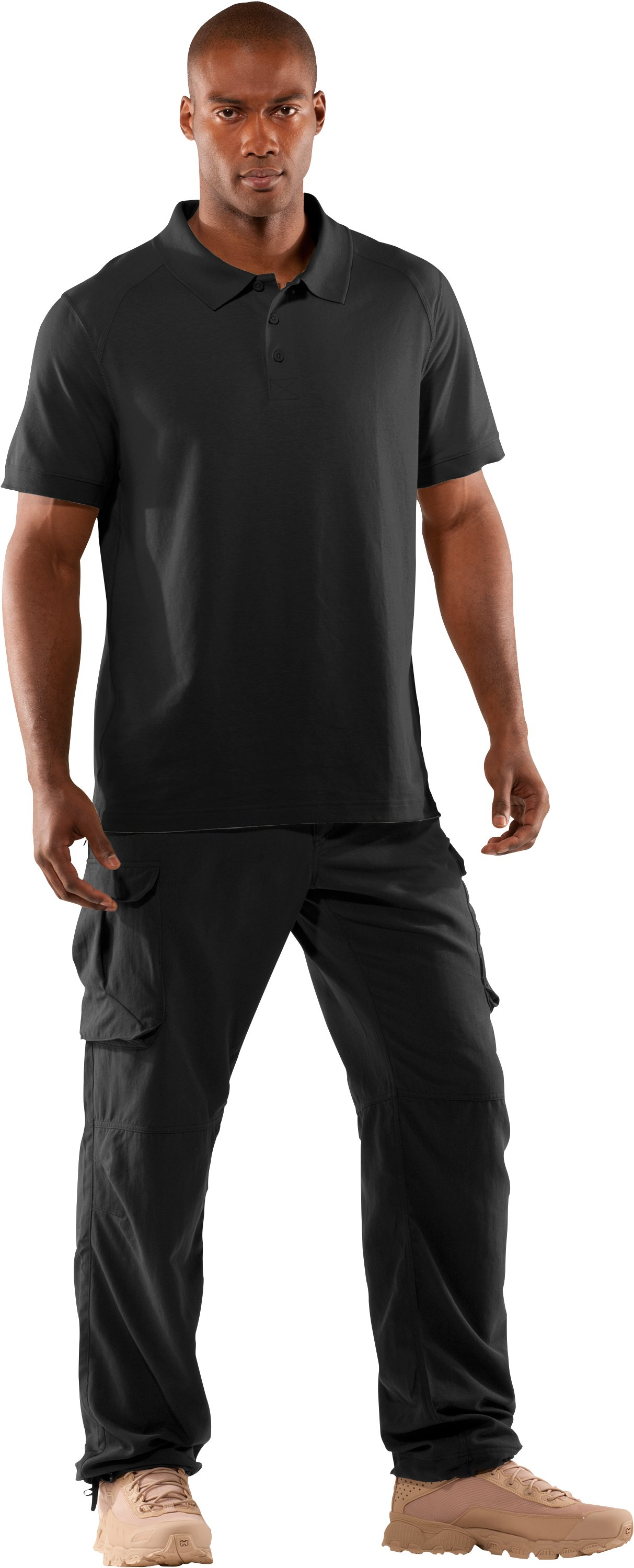 Men's UA Tactical Polo, Black , Front