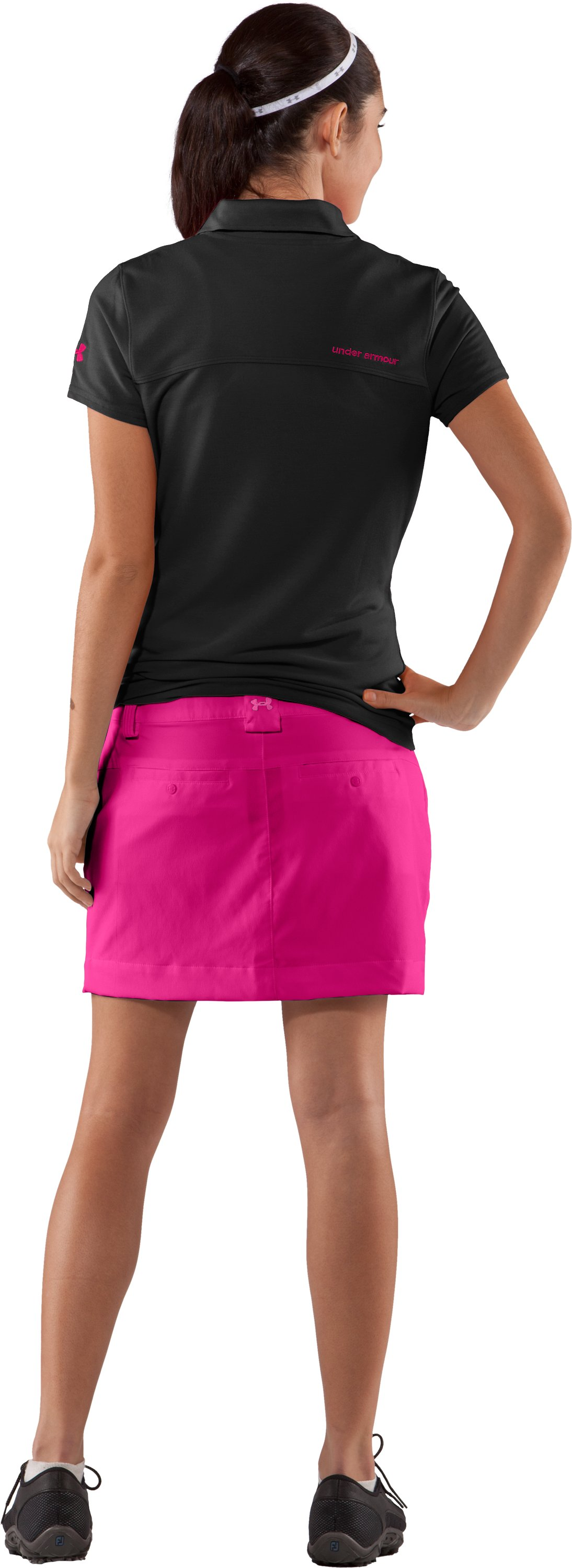 Women's UA Core Solid Skort, Rush, Back