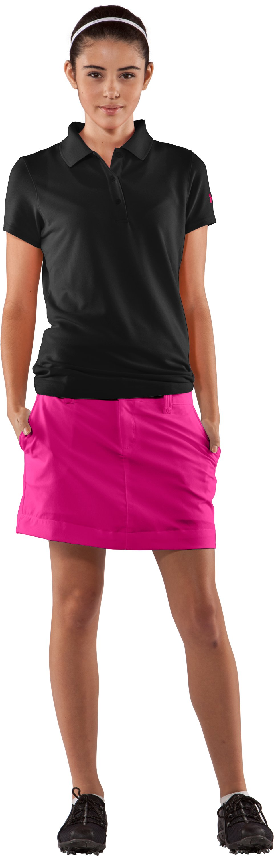 Women's UA Core Solid Skort, Rush, Front