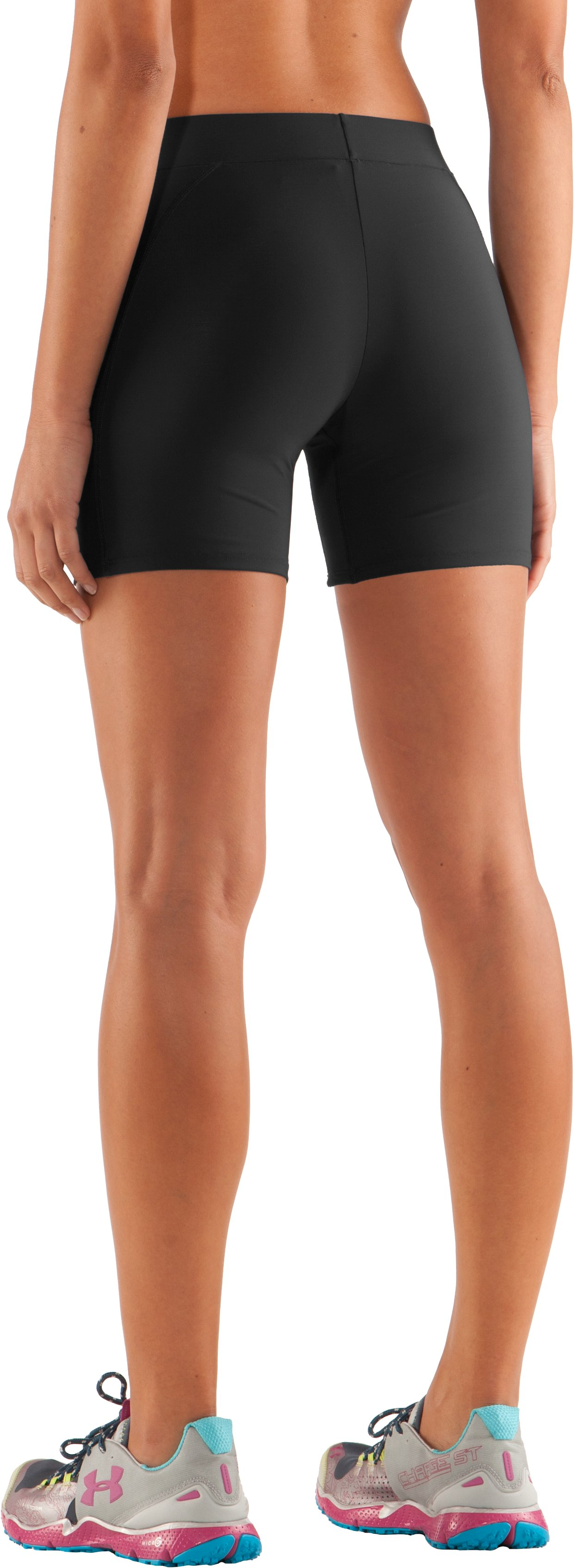 "Women's UA Ultra 4"" Compression Shorts, Black"