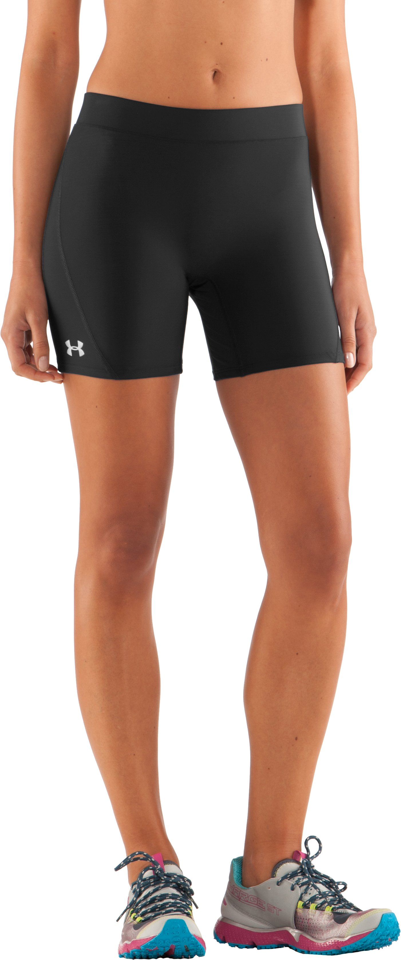 "Women's UA Ultra 4"" Compression Shorts, Black , zoomed image"