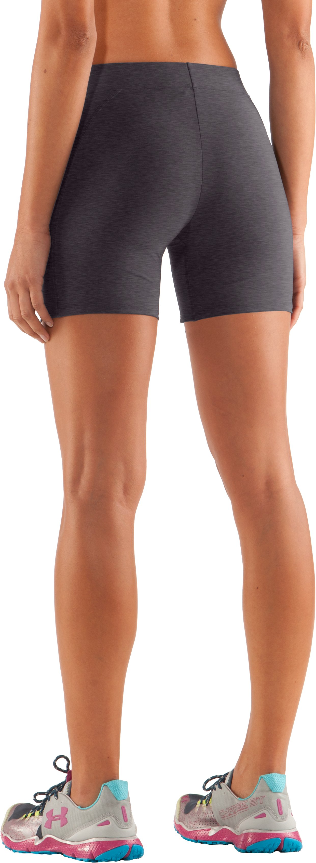 "Women's UA Ultra 4"" Compression Shorts, Carbon Heather"