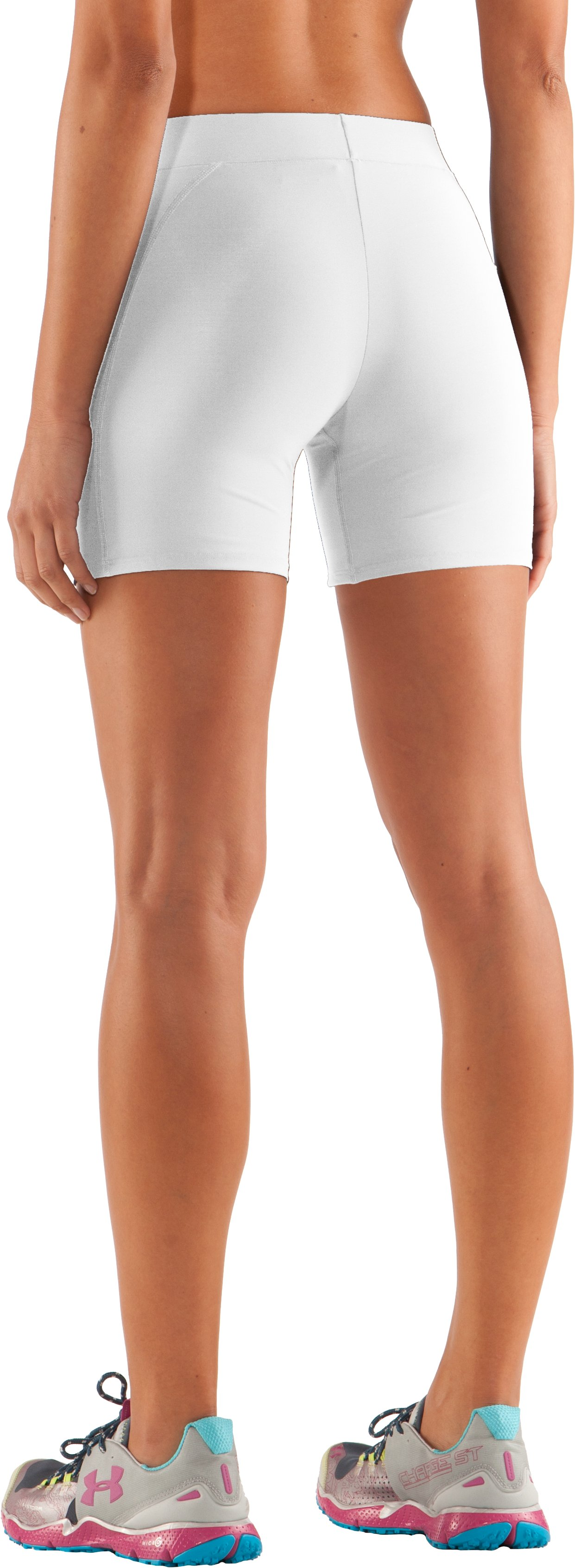 "Women's UA Ultra 4"" Compression Shorts, White"