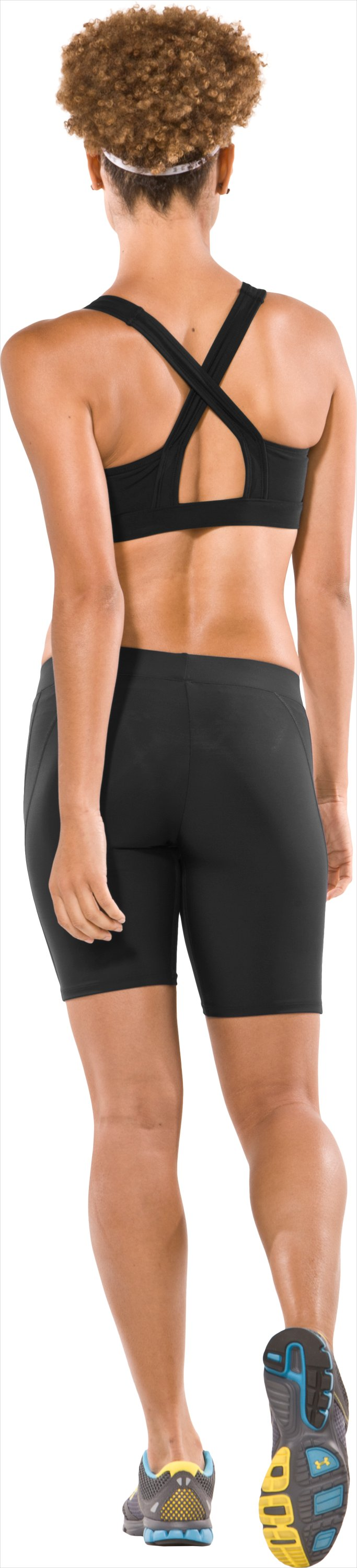 "Women's UA Ultra 7"" Compression Shorts, Black , Back"