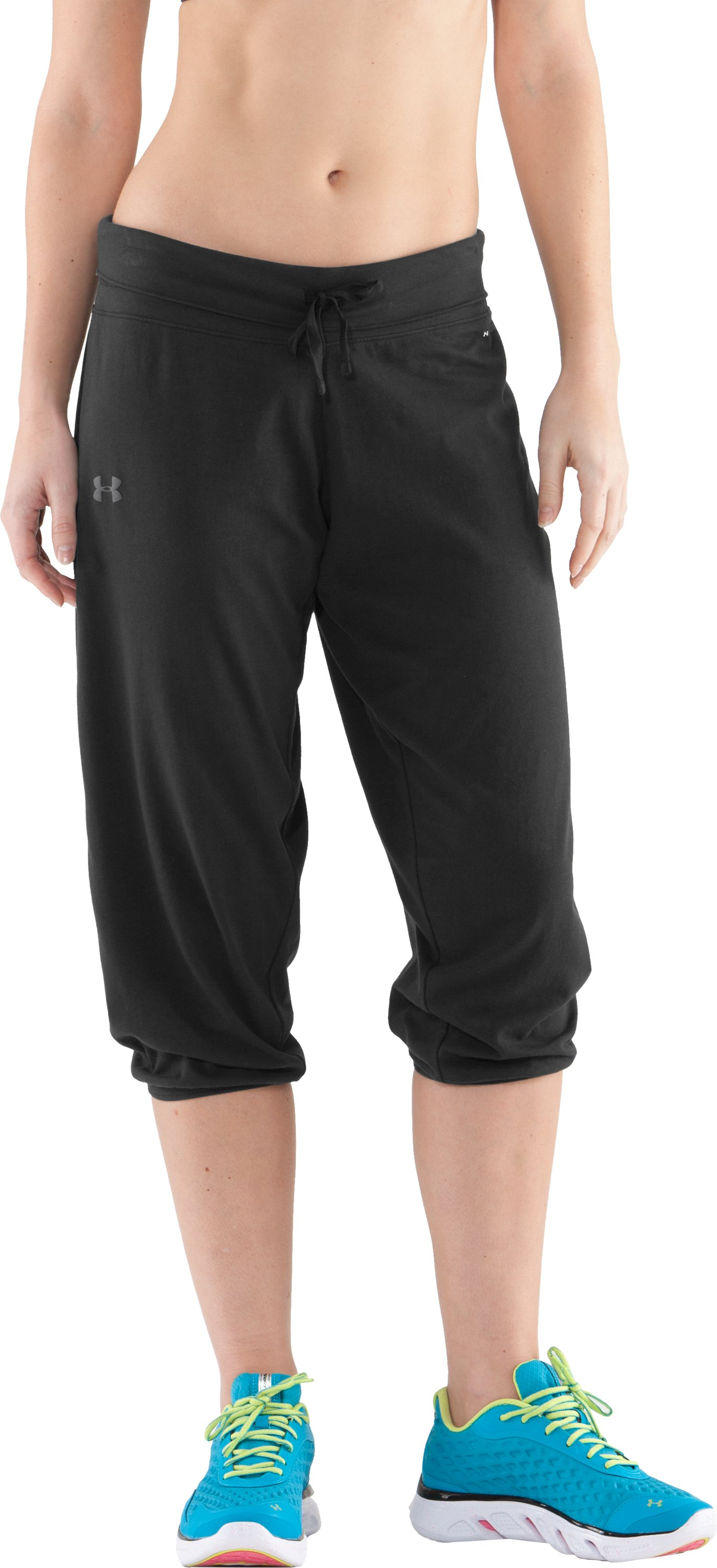 Women's UA Charged Cotton® Capri Pants, Black