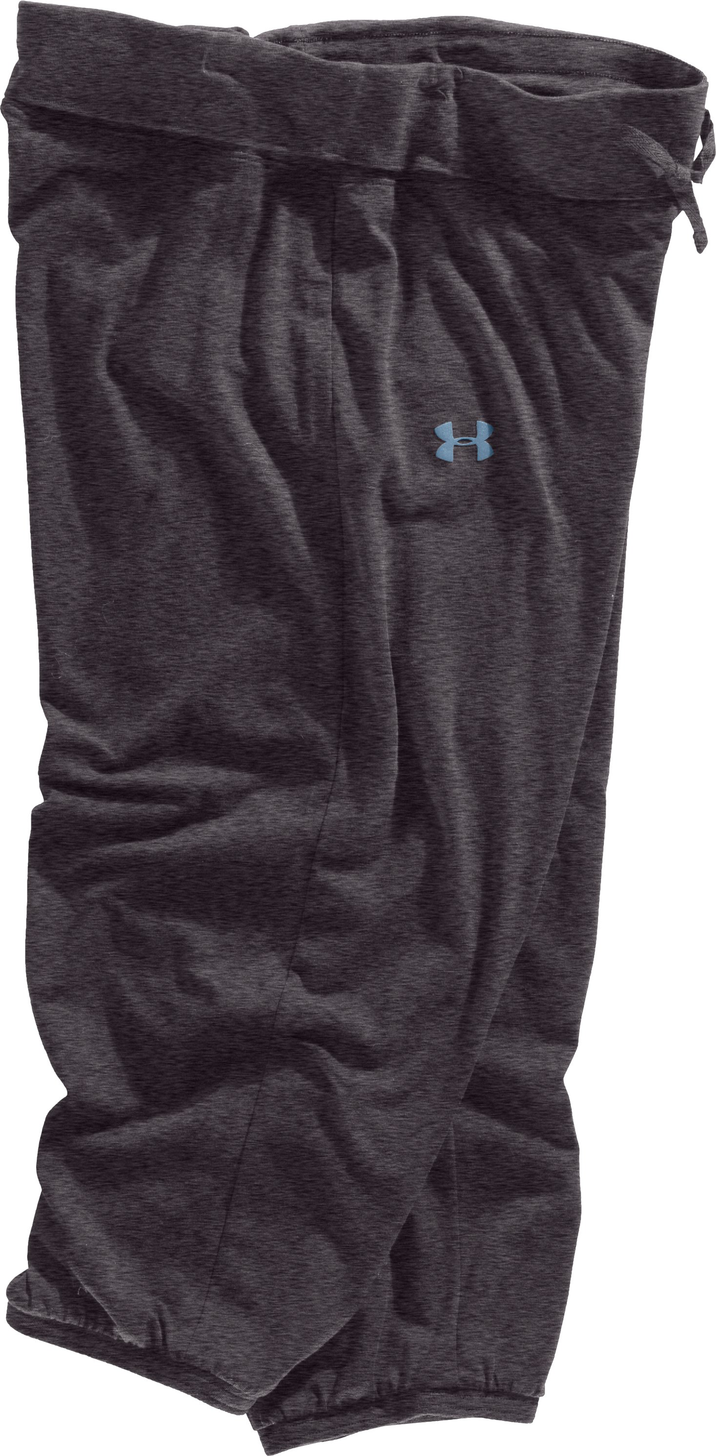 Women's UA Charged Cotton® Capri Pants, Carbon Heather, Laydown