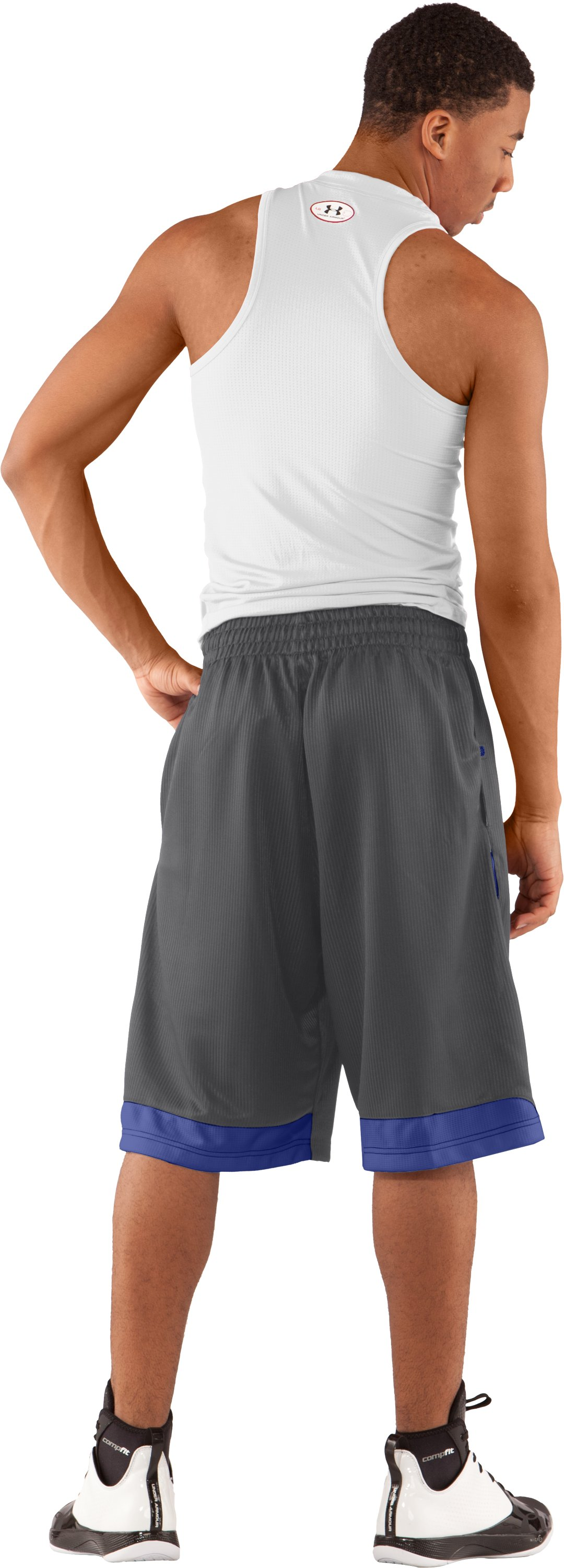 "Men's UA Valkyrie 12"" Basketball Short, Graphite, Back"
