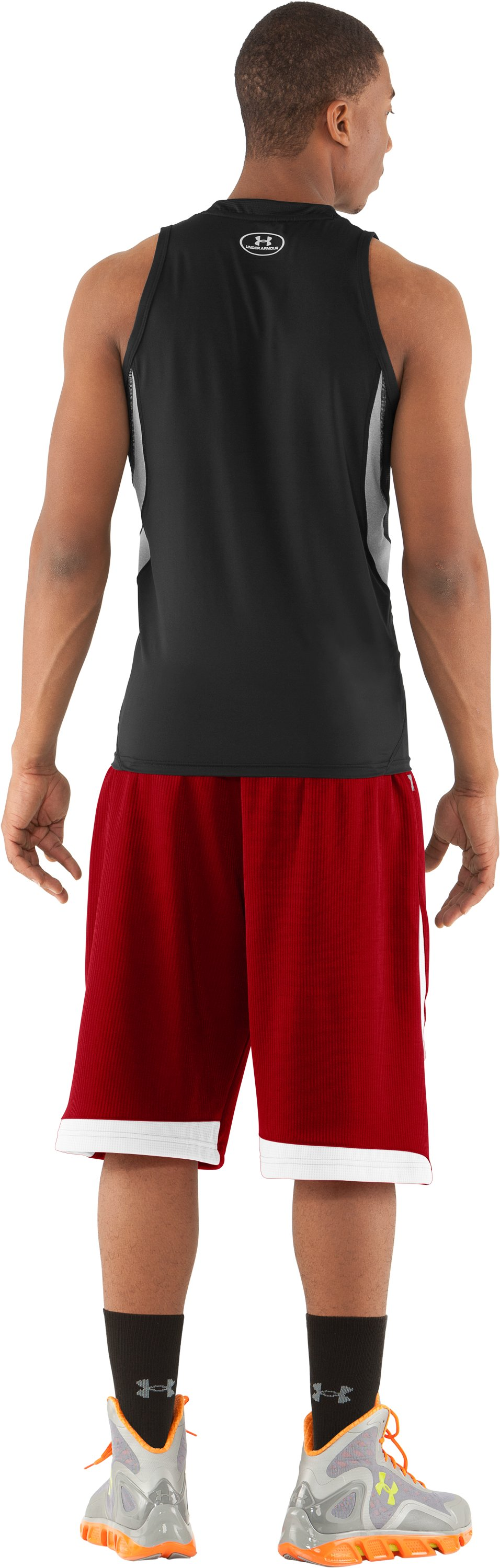 "Men's UA Valkyrie 12"" Basketball Short, Red, Back"