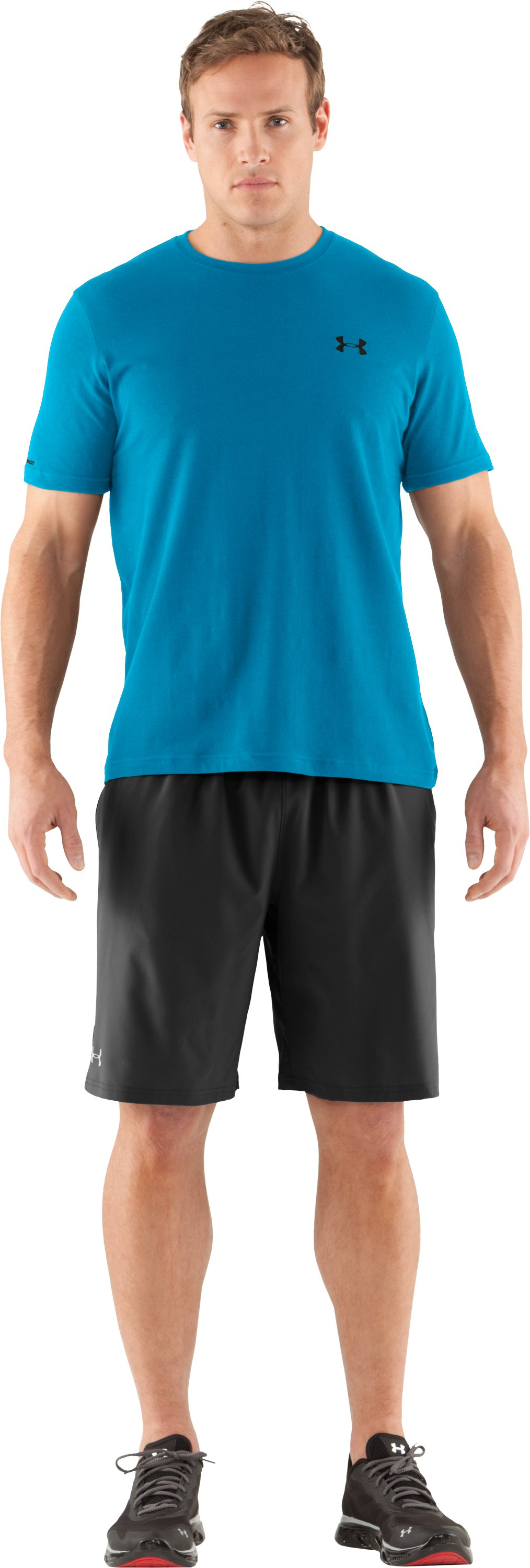 Men's Charged Cotton® T-Shirt, SNORKEL, Front