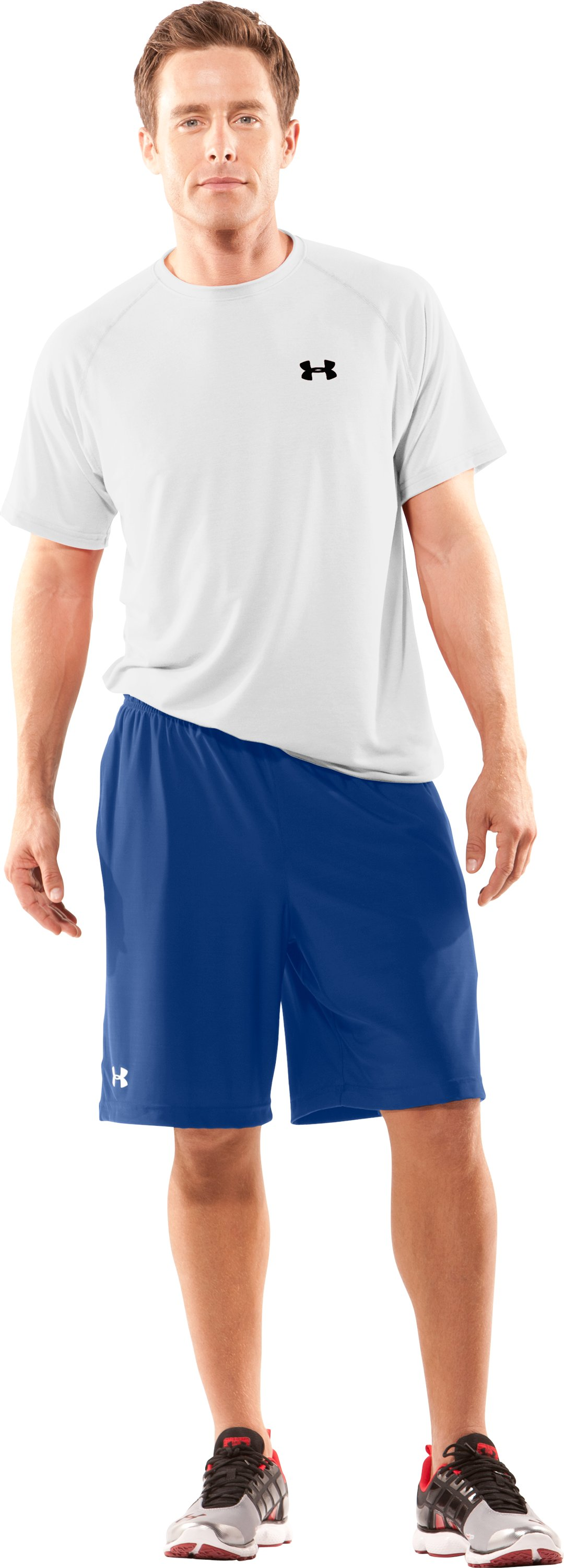 "Men's UA 9"" Microshorts II, Royal, Front"