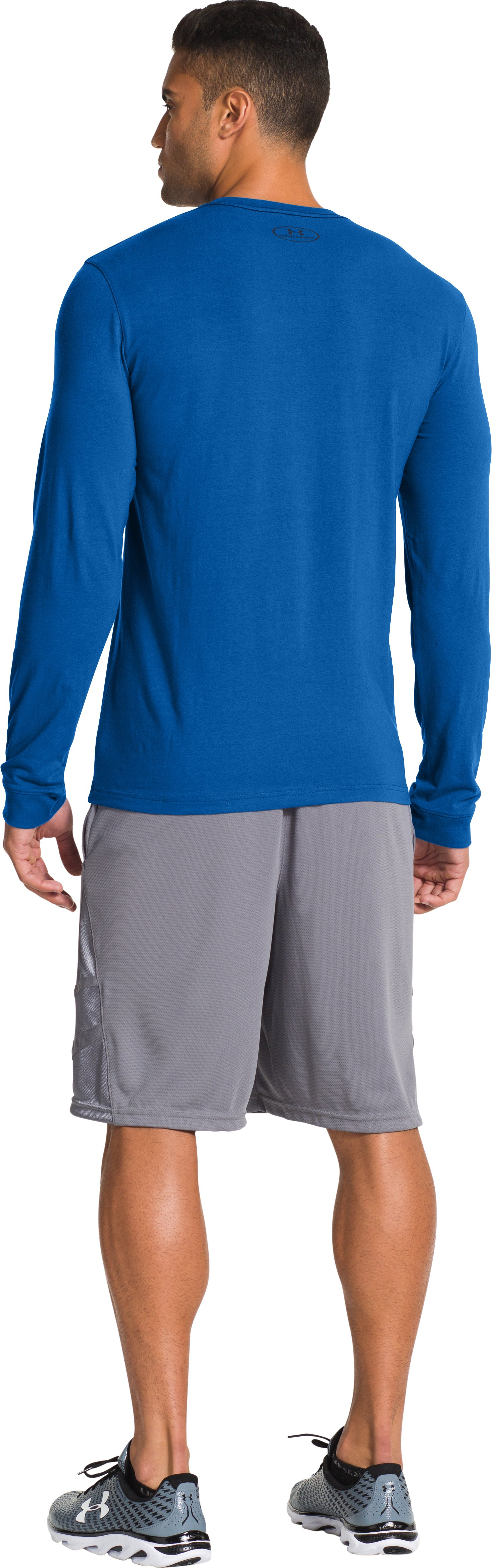 Men's UA Charged Cotton® Long Sleeve T-Shirt, SCATTER, Back