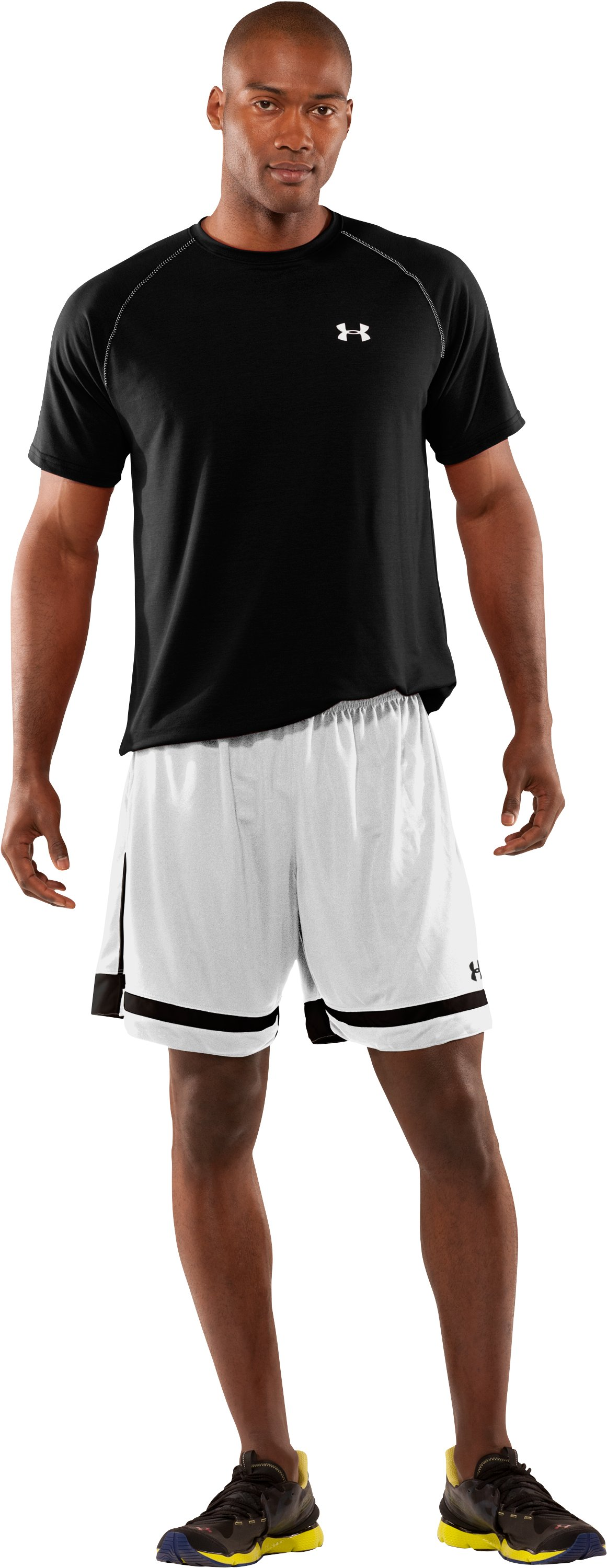 Men's UA Introducta Shorts, White, Front