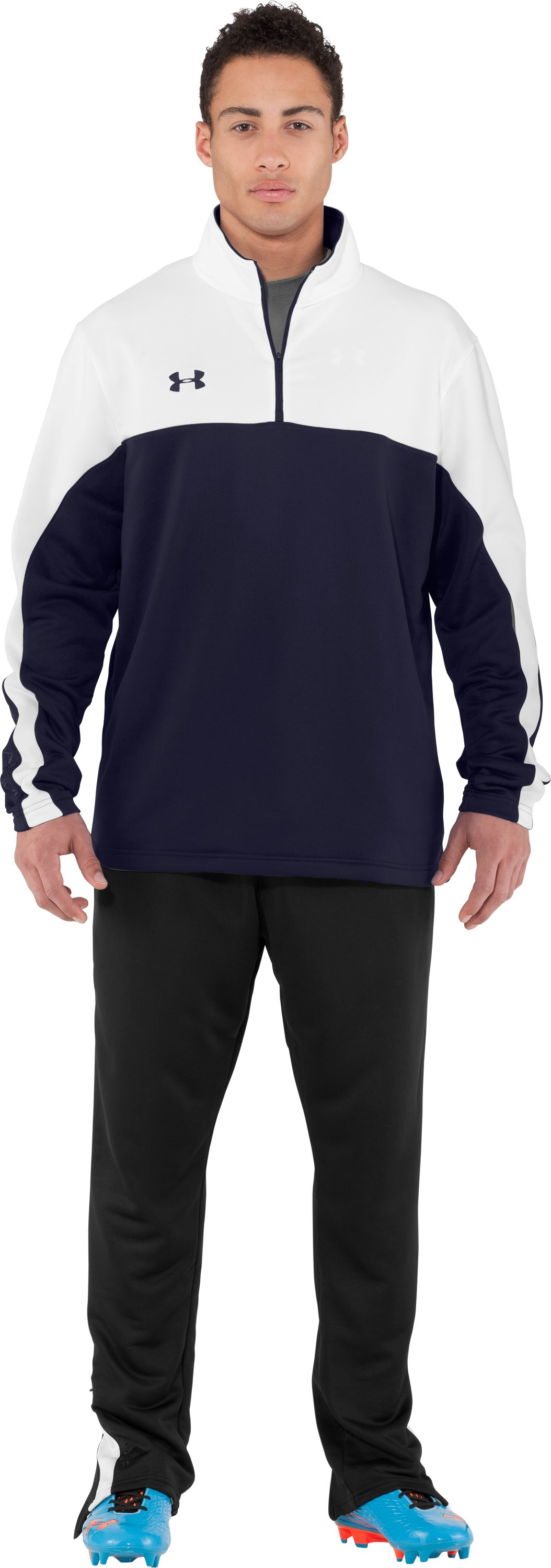 Men's UA Classic ¼ Zip Long Sleeve Shirt, Midnight Navy, Front