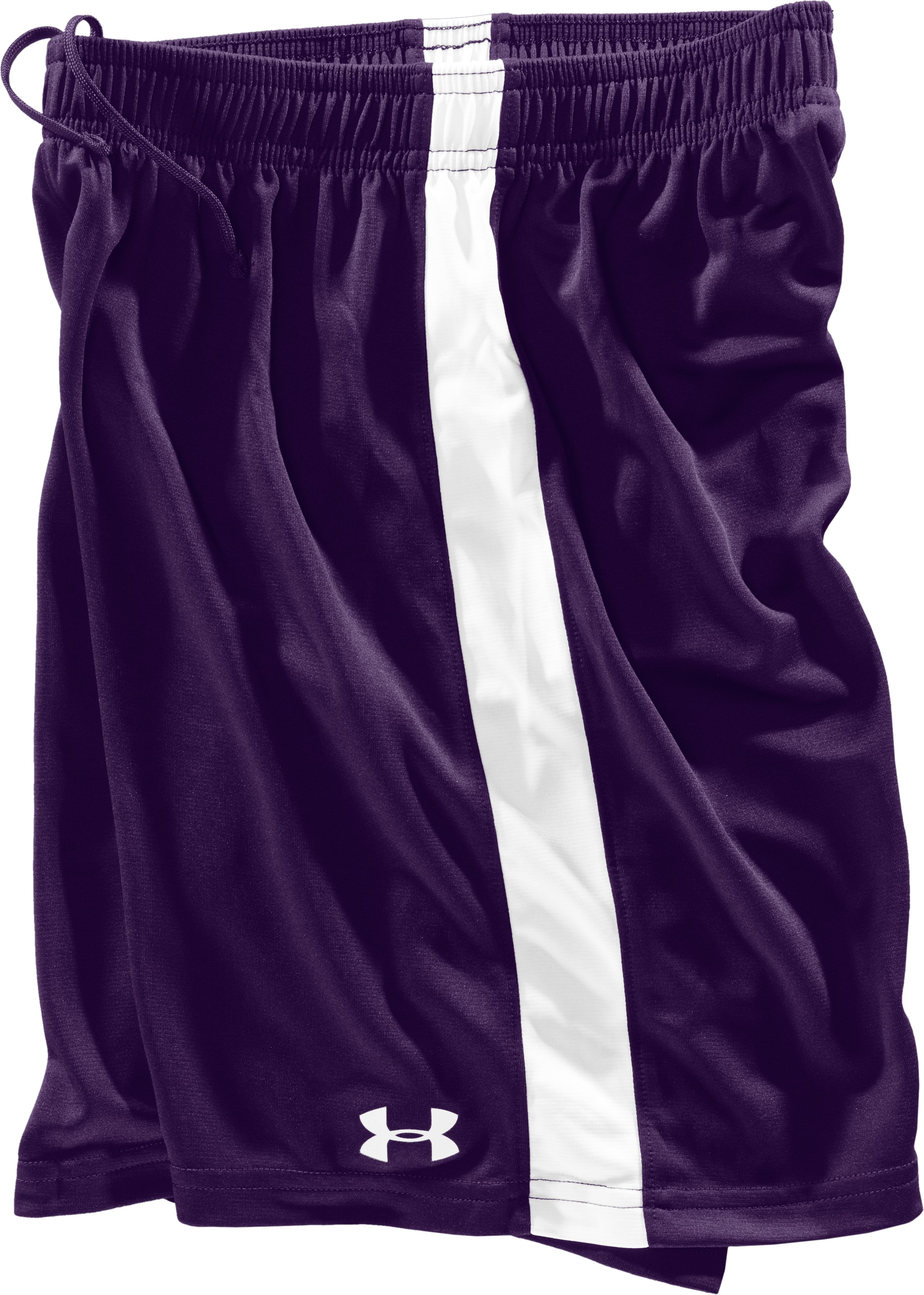 Boys' UA Classic Shorts, Purple, Laydown