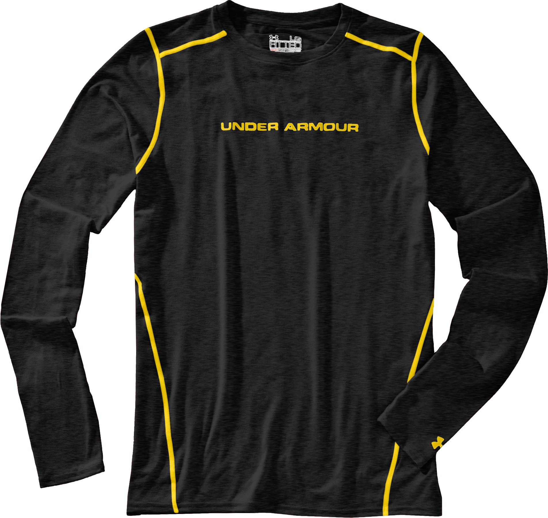 Men's UA HeatGear® Touch Fitted Long Sleeve Crew, Asphalt Heather, Laydown