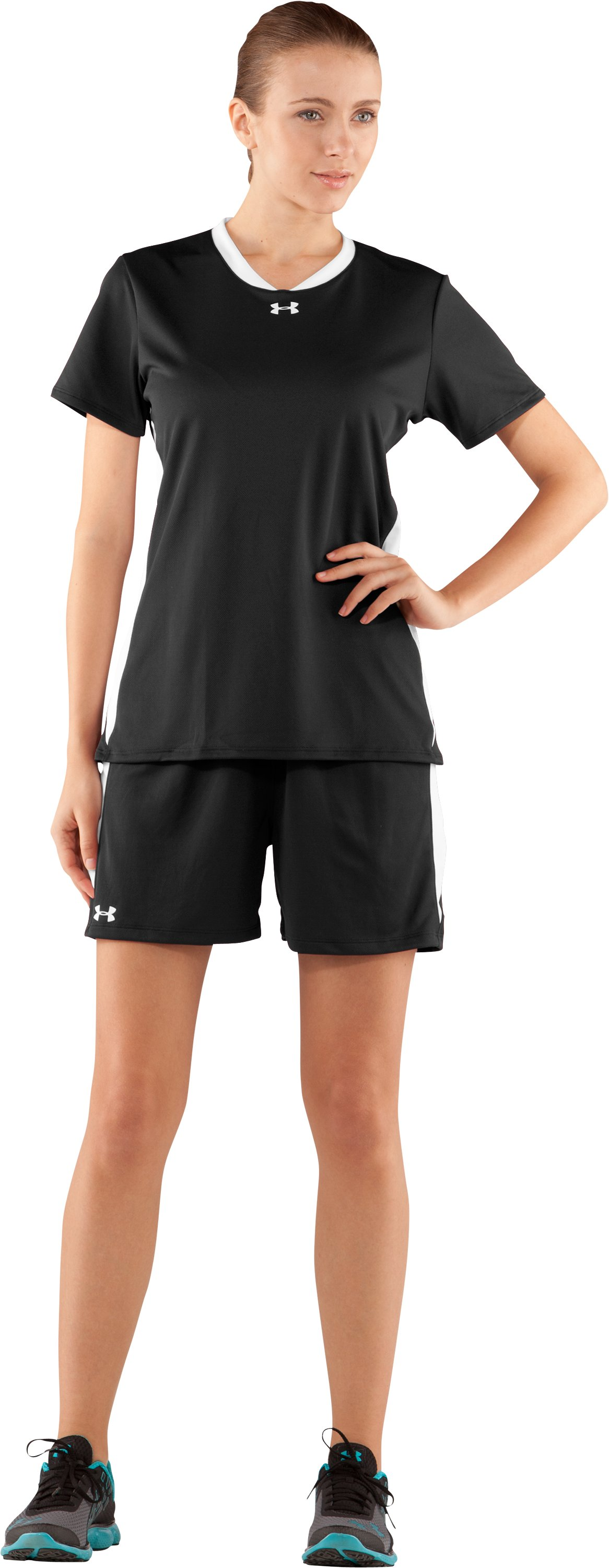 "Women's UA Clutch 5"" Shorts, Black , Front"