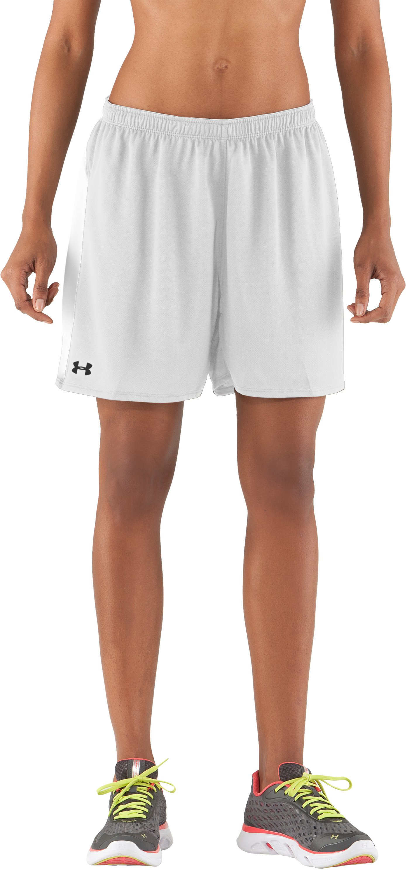 "Women's UA Clutch 5"" Shorts, White"