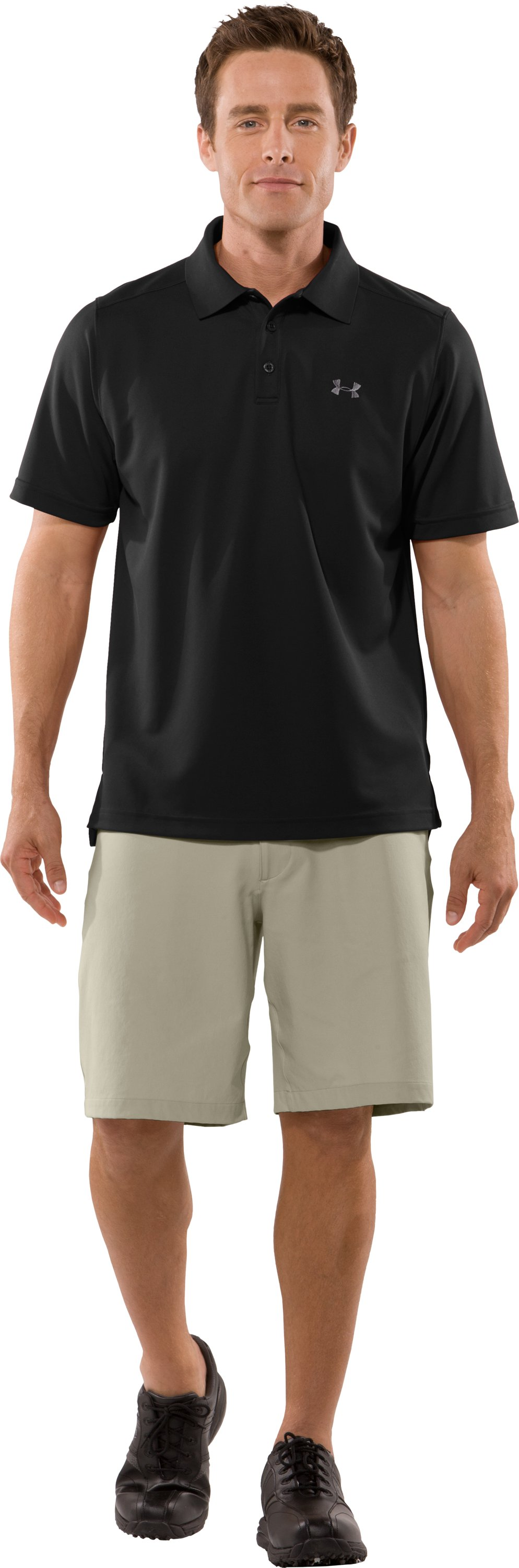 Men's UA Fade Solid Polo, Black , zoomed image