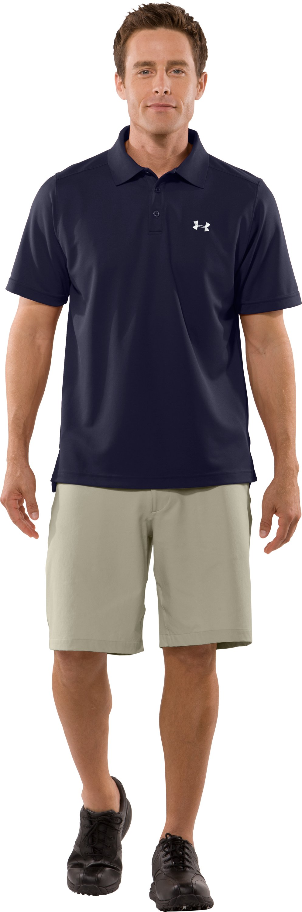 Men's UA Fade Solid Polo, Midnight Navy, Front
