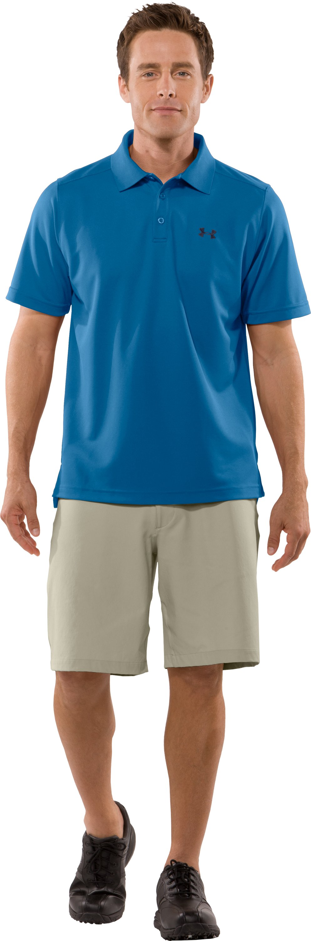 Men's UA Fade Solid Polo, Marine, zoomed image