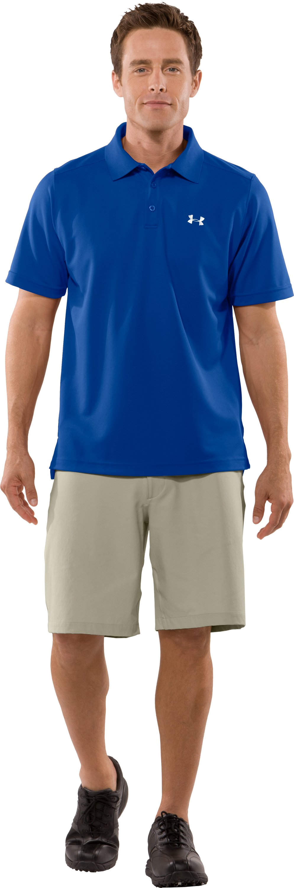 Men's UA Fade Solid Polo, Moon Shadow, Front