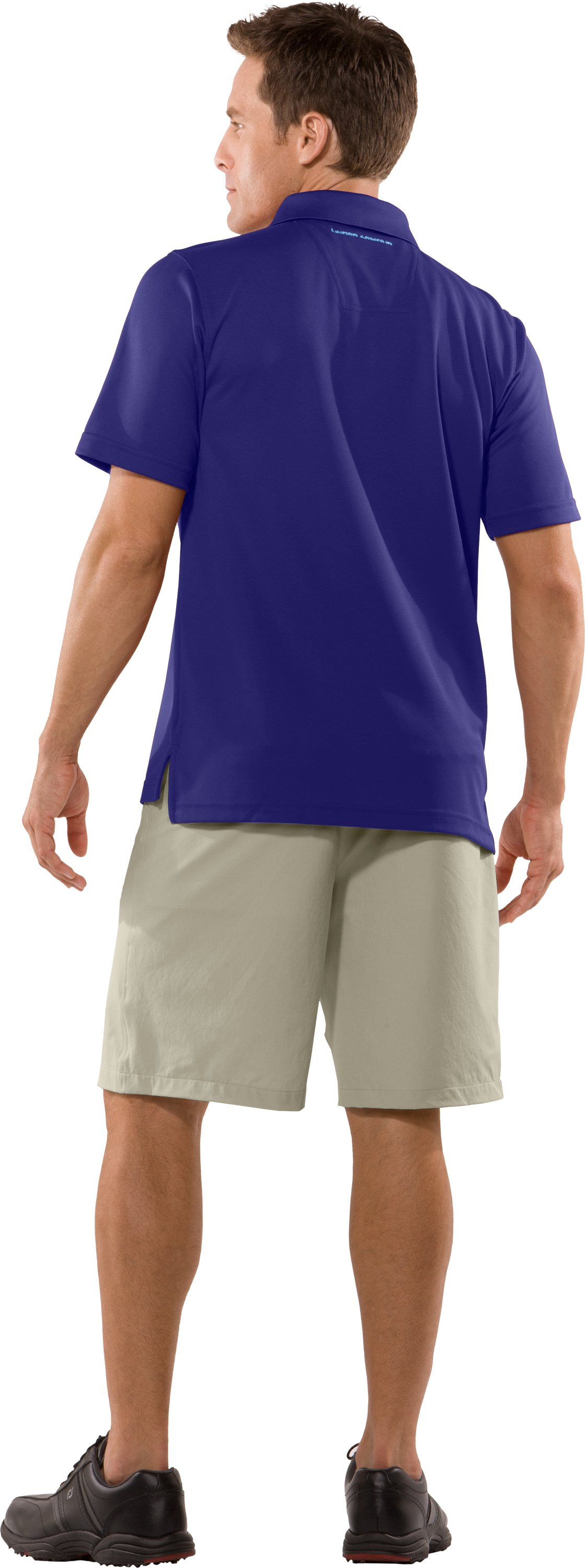 Men's UA Fade Solid Polo, Monarchy, Back