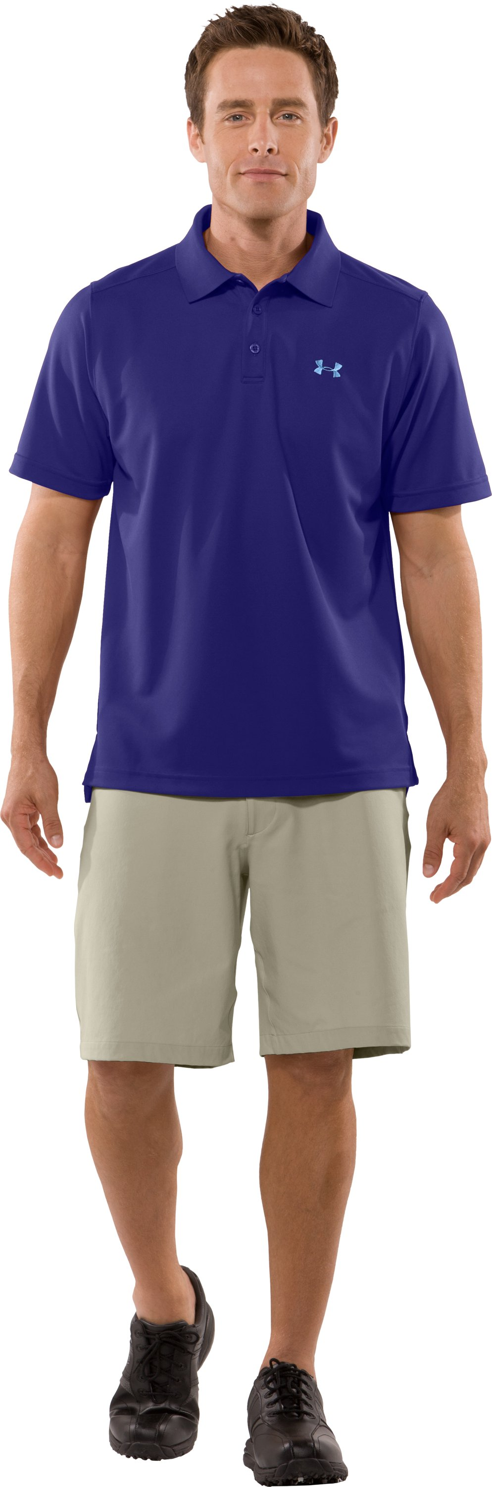 Men's UA Fade Solid Polo, Monarchy, Front