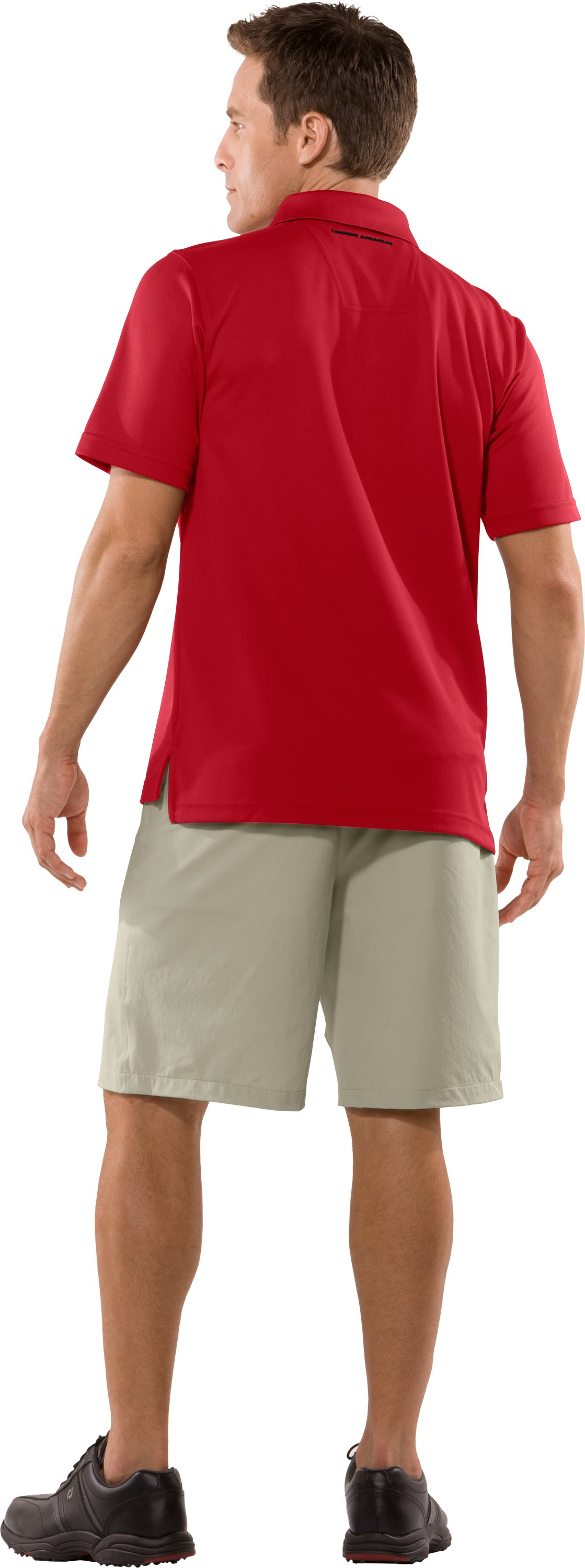Men's UA Fade Solid Polo, Red, Back