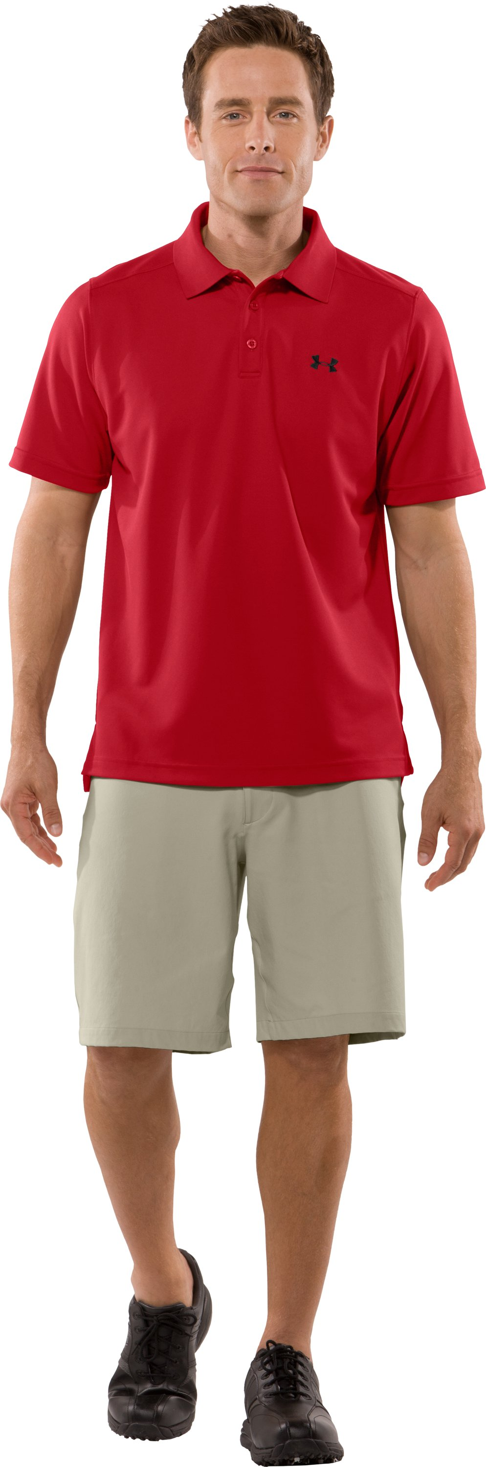 Men's UA Fade Solid Polo, Red, zoomed image