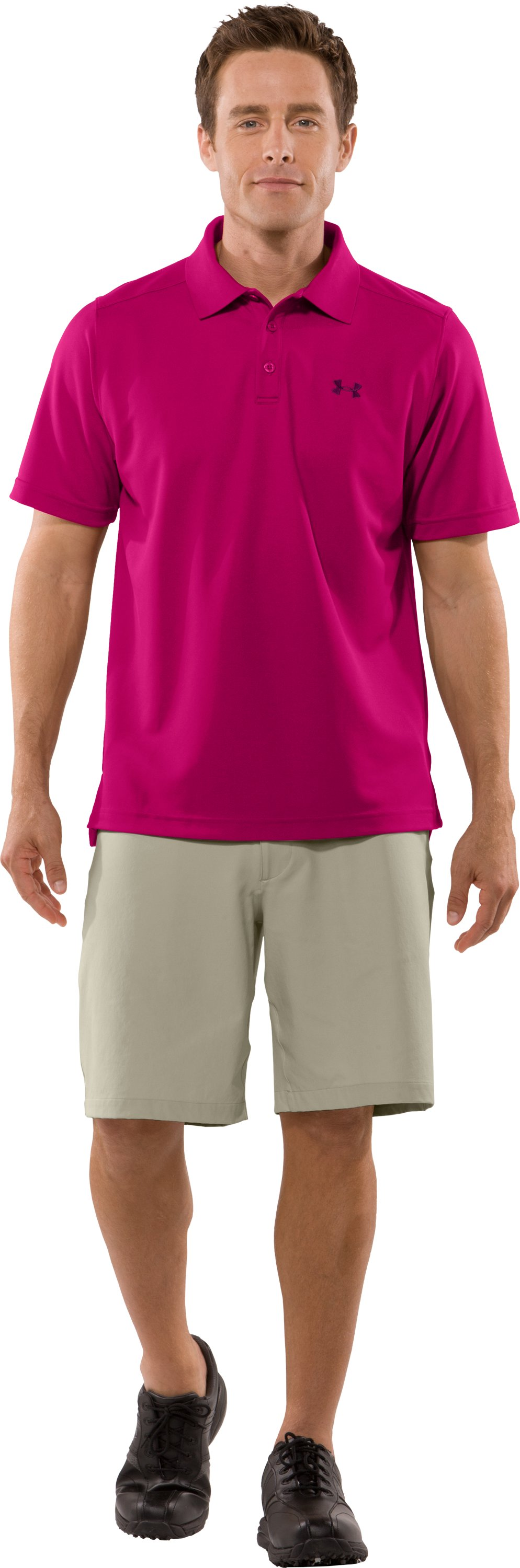 Men's UA Fade Solid Polo, Rush, zoomed image