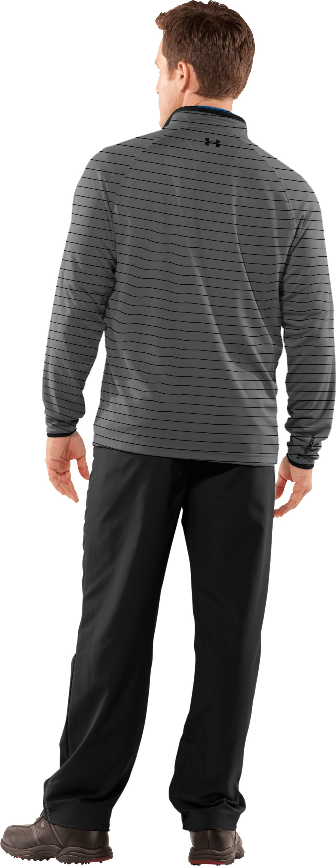 Men's UA Ace Golf ¼ Zip, Graphite, Back