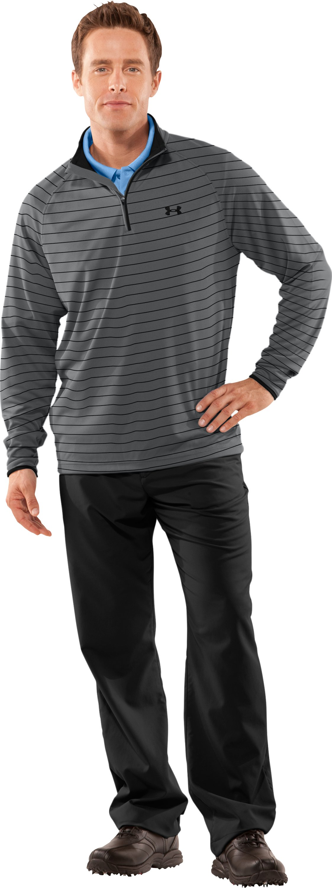 Men's UA Ace Golf ¼ Zip, Graphite, zoomed image
